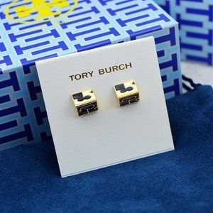 Tory Burch three-dimensional triangle earrings